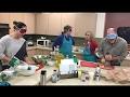 Feb 2017 Rehab Counselors making Magic Quinoa Casserole Fancy Salad and Apple Crisp