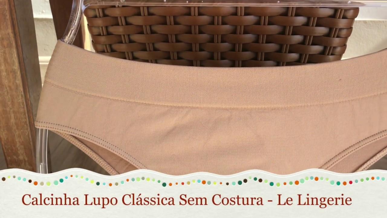 e23faa37b Calcinha Básica Sem Costura Clássica Loba Lupo 40300 - Le Lingerie ...