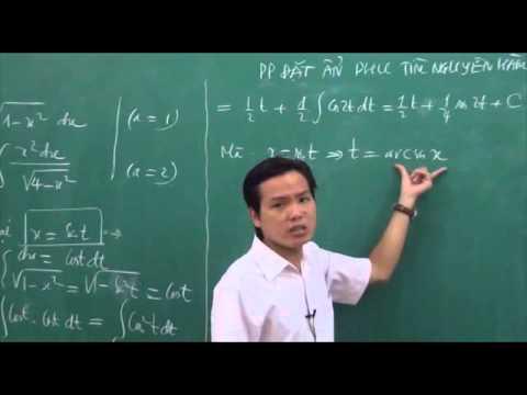 05 - Phương pháp đổi biến số tìm nguyên hàm (phần 2) 2.flv