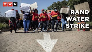 A handful of South African Municipal Workers' Union (Samwu) members gathered outside the Rand Water head offices on 21 April 2021 to protest for their incentive bonuses.    #SAMWU #RandWater
