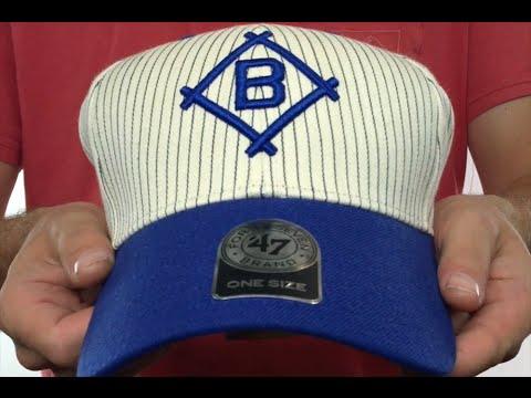 c812f97874b Brooklyn Dodgers  HOME-RUN PINSTRIPE STRAPBACK  Hat by Twins 47 Brand
