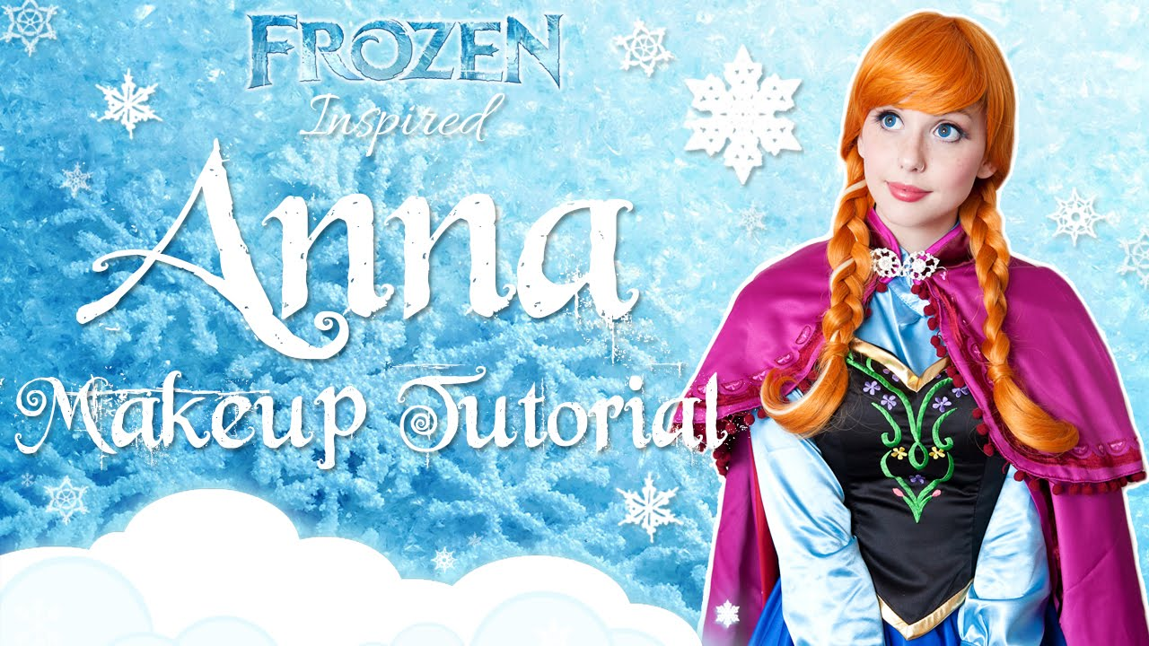 Anna frozen makeup tutorial youtube baditri Image collections