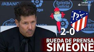 Celta 2-0 Atlético de Madrid   Rueda de prensa de Simeone   Diario AS