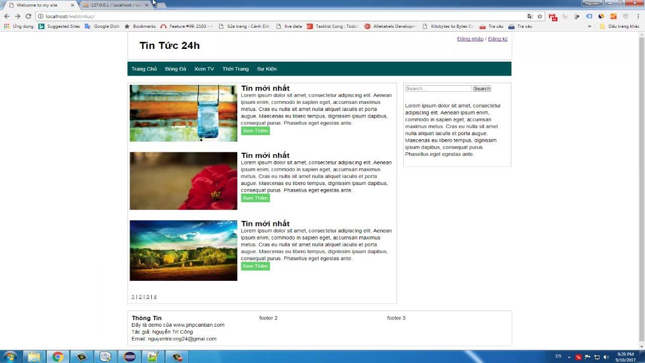[SERIES] Hướng dẫn làm website tin tức – PHP(Object-Oriented) – Phần 1