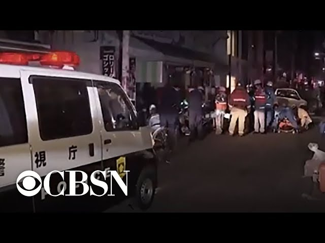 Minivan slams into pedestrians in Tokyo