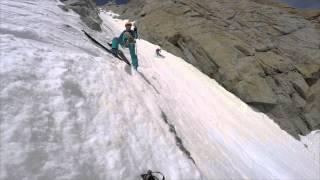 Chere couloir in Mont Blanc du Tacul