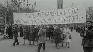 Manifestations femmes de mineurs à Saint Etienne