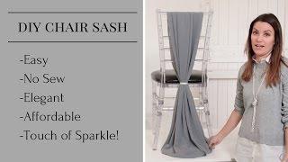 DIY Chair Sash | Chair Sash Styles | Chair Sash Tutorial
