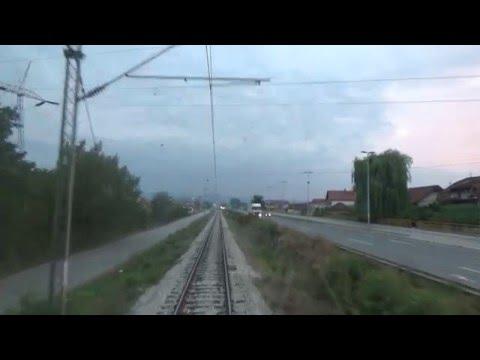 Train Driver's view: railroad in Serbia from Divci to Valjevo - SERBIAN RAILWAYS