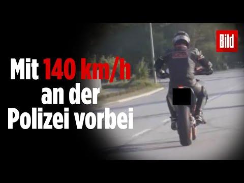 Dämlicher Raser in Hamburg: Motorradfahrer mit 140 km/h geblitzt