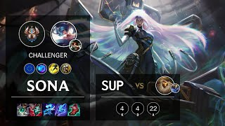 Sona Support vs Bard - EUW Challenger Patch 10.23
