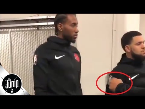 kawhi-leonard-completely-denies-teammate's-fist-bump:-'you-cannot-bother-kawhi!'-|-the-jump