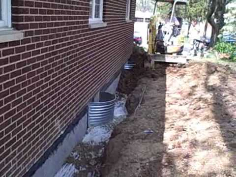 Interior Waterproofing And Exterior Waterproofing Integrated Basement Waterproofing