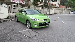2012 Hyundai Veloster 1.6 Premium Test Drive(Hello everyone! Back in May, I brought to you all a start-up and full vehicle tour video of the 2012 Hyundai Veloster 1.6 Premium. Today, I have a test drive video., 2013-12-26T02:18:16.000Z)