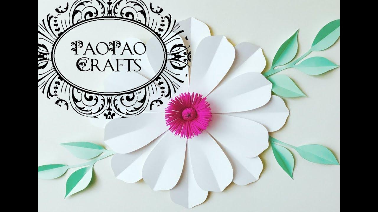 Flor Gigante De Papel Flores De Papel Moldes Gratis How To