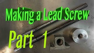 Easy way to make a LEAD SCREW