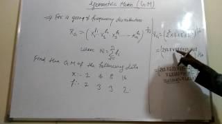Statistics Central Tendency Geometric Mean