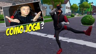 PRETENDING TO BE NOOB WITH IKONIK SKIN AGAINST THE MOST INHUMANE AND TOXICO PLAYER OF FORTNITE