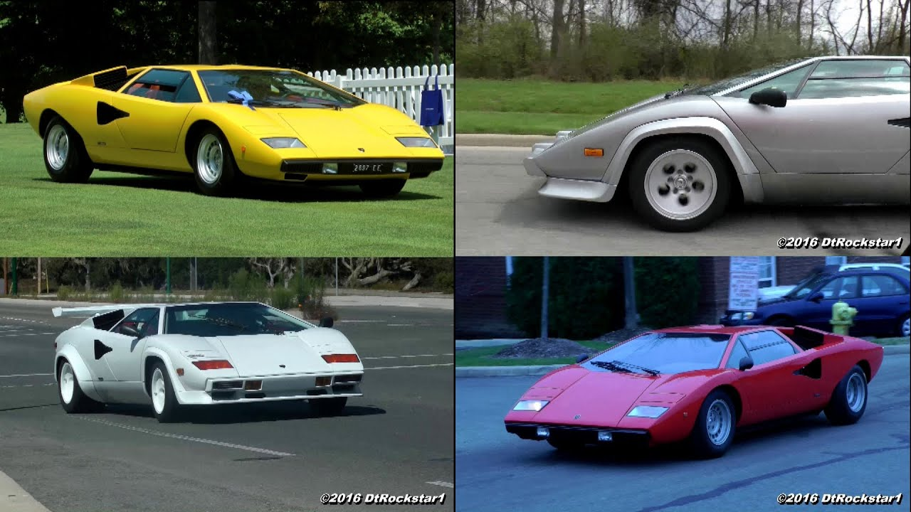 Lamborghini Countach Compilation 5 Minutes Of Pure Sound Youtube