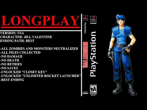 Resident Evil (PlayStation) - (Longplay - Jill Valentine)