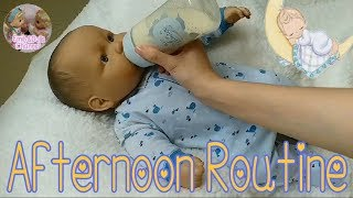 Скачать Reborn Baby Style JC Toys Berenguer Baby Dolls Afternoon Routine Feeding Changing Baby Marcus