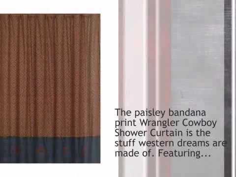 Wrangler Cowboy Shower Curtain - lonestarwesterndecor.com