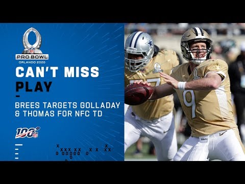 Drew Brees Targets Golladay & Thomas for NFC's First TD   NFL 2020 Pro Bowl