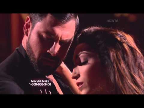 Maksim Chmerkovskiy & Meryl Davis dancing Foxtrot on DWTS 3 31 14