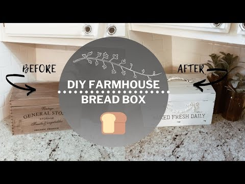 DIY FARMHOUSE  BREAD BOX | FARMHOUSE KITCHEN DECOR | HOW TO MAKE A FARMHOUSE STYLE BREAD BOX