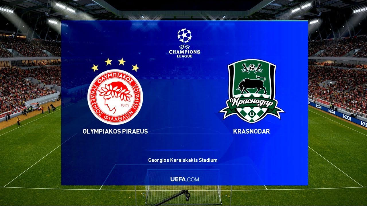 Olympiacos Vs Krasnodar Uefa Champions League Play Off Round Pes 2019 Youtube