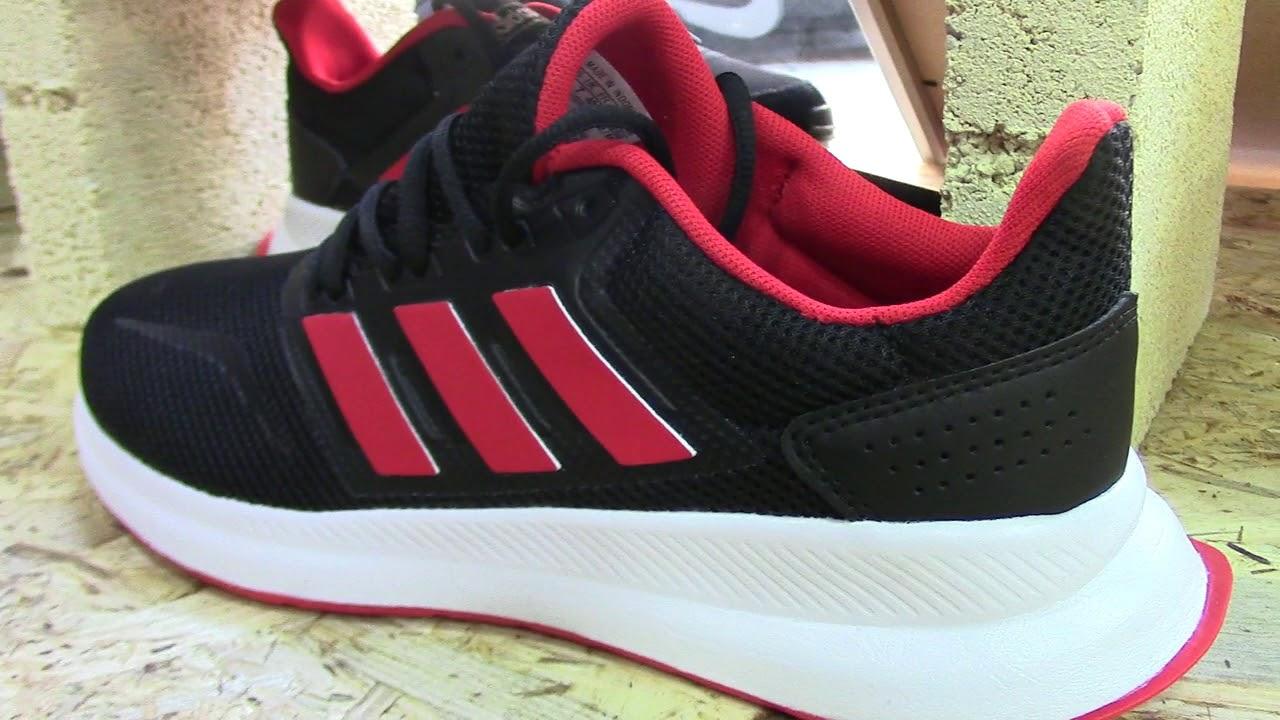 auditoría Víspera maldición  ADIDAS Run Falcon Negras | Adidas Hombre G28910 Negro y Rojo 2019 - YouTube