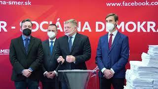 Tlačová konferencia strany SMER - SD na tému: Slovensko je pripravené na vyhostenie slovenskej vlády