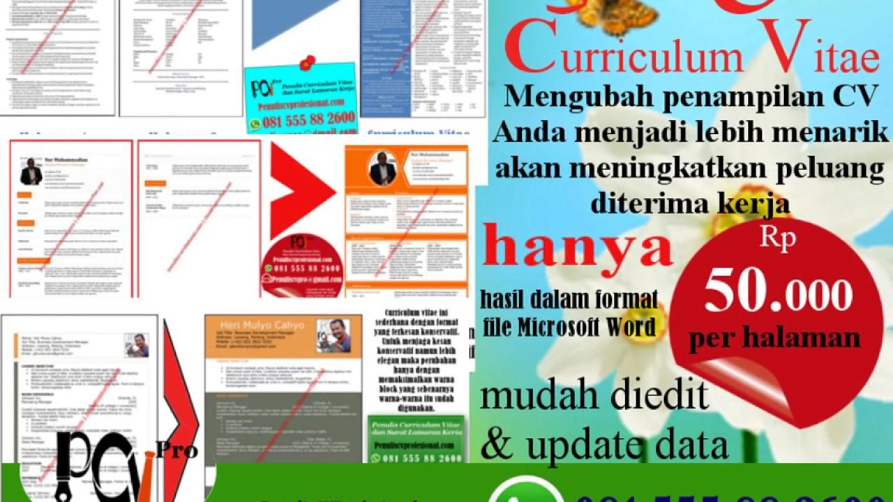 Wa 081555882600 Jasa Pembuatan Curriculum Vitae Design Cv Menarik