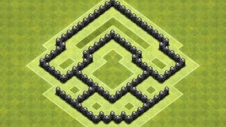 Clash Of Clans - Layout de Defesa para Centro de Vila 5 (Town Hall 5 Trophy Base)