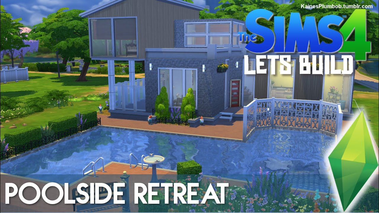 Poolside retreat the sims 4 lets build youtube for Pool designs sims 4