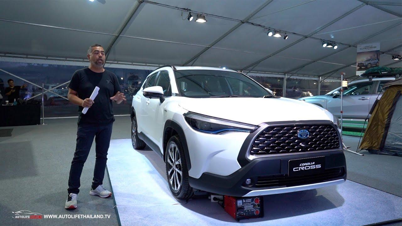 พาชมToyota Corolla Cross รถ B-SUV ค่าตัว 9.89แสน-1.199ล้านบาท ท้าชน Honda H-RV ,Mazda CX-30