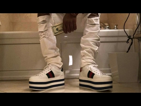 87228561dac60 Plies shows Off his  1000 Low Top Platform Gucci Shoes - YouTube