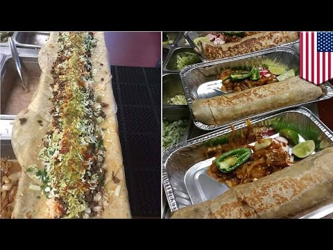 Anaconda burrito from California Taqueria Yarelis is the newest viral food porn - TomoNews