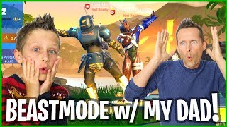 DUOs With My DAD and NEW BEASTMODE SKIN!