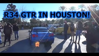 R34 GTR IN USA! Arrives at Coffee and Cars!