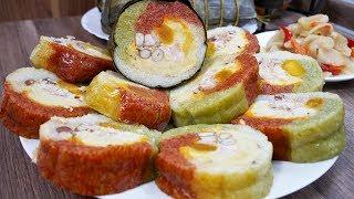 BÁNH TÉT - Cách làm Bánh Tét nhân mặn cấp tốc, cách gói Bánh Tét - Món ăn ngày Tết by Vanh Khuyen