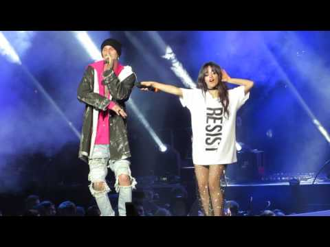 """""""Bad Things"""" - Camila Cabello + Machine Gun Kelly - #Welcome! Concert for ACLU - Los Angeles, CA"""
