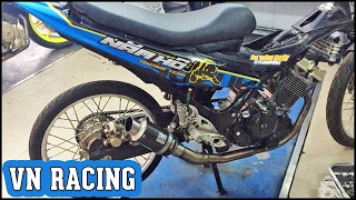 Setting & Sound - Drag Bike Suzuki Raider 150 modified 66mm open Vietnam