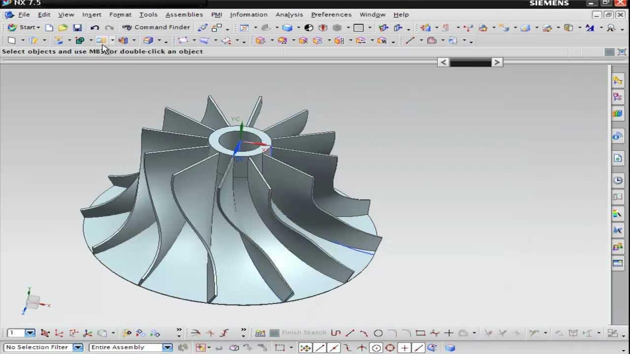 Nx Modeling Concept Design Impeller Youtube