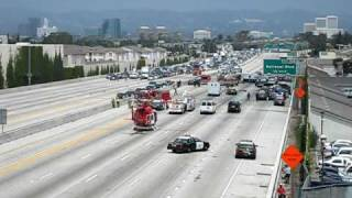 CHP Motorcycle Accident on 405 freeway Closed - Fire 2 Lands