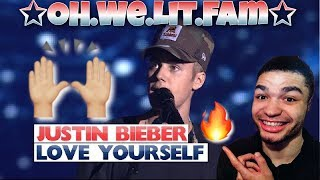 """JUSTIN BIEBER (He Gave Us THE BEST ADVICE‼️🙌🏼) """"Love Yourself"""" Jingle Bell Ball 2015 REACTION !!"""
