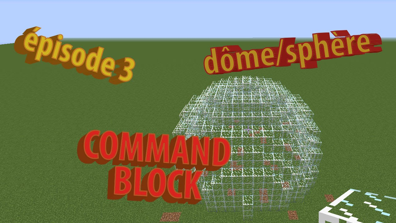 how to make a sphere in minecraft using command blocks