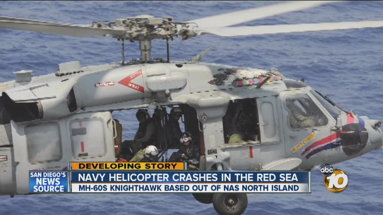 3 rescued after San Diego-based Knighthawk helicopter crashes in Red Sea:  Search continues for 2