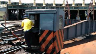 [HD] The Taiwan TRA Turntable in Changhua Rolling Stock Branch