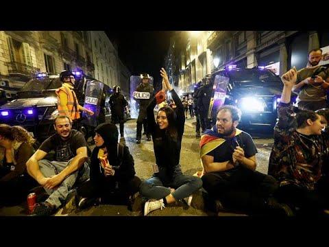 Барселона: сидячий протест